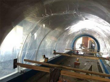 Prilagođeni veliki akrilni akrilni akcelerski projekt tunela