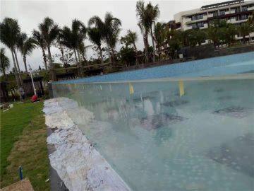 prilagođeni rezati na otvorenom akrilnim bazenima